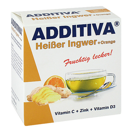 ADDITIVA heißer Ingwer+Orange Pulver
