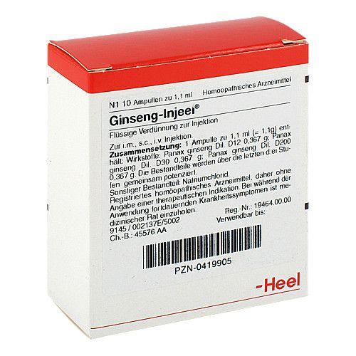 Biologische Heilmittel Heel GmbH GINSENG INJEEL Ampullen 10 St 2137