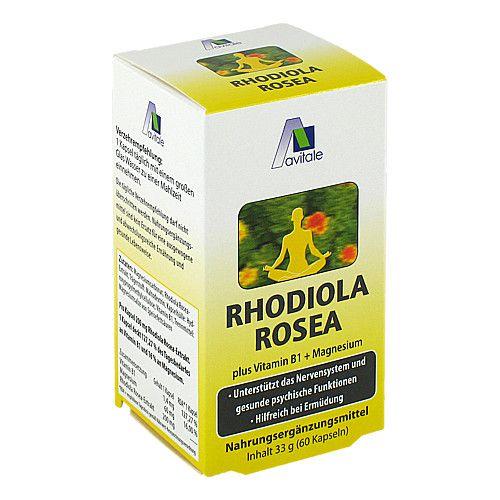 Avitale GmbH RHODIOLA ROSEA Kapseln 200 mg 1 g 59016