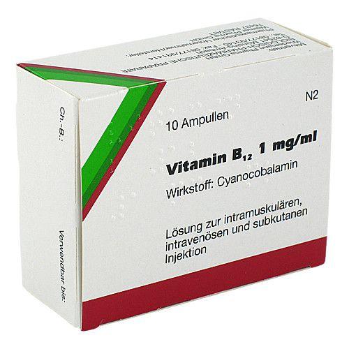 VITAMIN B12 WIEDEMANN Ampullen 10 St