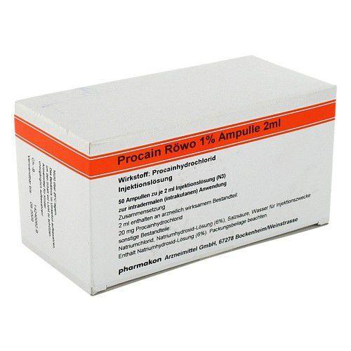 PROCAIN RÖWO 1% Ampullen 2 ml 50X2 ml
