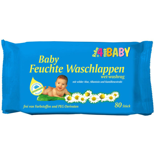 Axisis GmbH FEUCHTE Waschlappen ReAm 4 your Baby 80 St 05512414