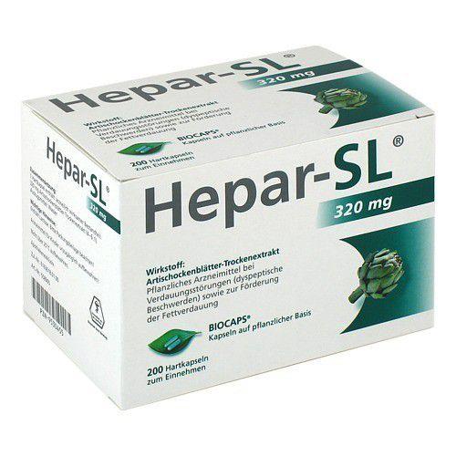 MCM Klosterfrau Vertriebsgesellschaft mbH HEPAR SL 320 mg Hartkapseln 200 St 09530455