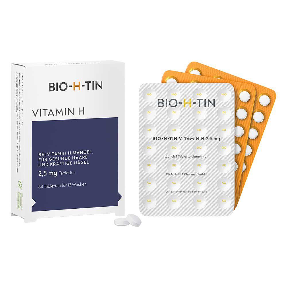 bio h tin vitamin h 2 5 mg f r 12 wochen tabletten delmed. Black Bedroom Furniture Sets. Home Design Ideas