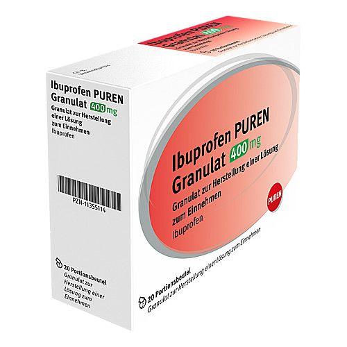 Ibuprofen Puren Granulat 400 Mg Zherelsgzein 20 St Delmed